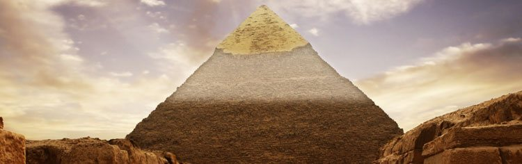 Pyramid landscape - All About Archaeology Banner